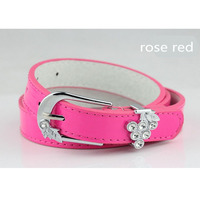 Freeshipping high quality new design paint finished treated surface women's belt,crystal studded belt, PU leather belt