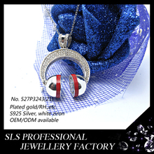 2015 Latest fashion hip hop jewelry 925 sterling silver charms headphones shape pendant for boyfriend