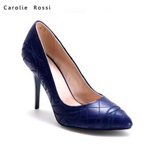 Wholesale women shoes fashion stitching pointed toe pump high heels