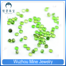 Hot sale 1-3mm round cut natural diopside in loose stone/ semi precious loose gem