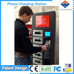 Cell station, vending phone charging station for restaurant, mobile phone lockers APC-06A