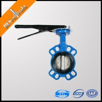 Factory of butterfly valve DN50 water cast iron butterfly valve handles
