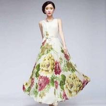 N1399 trendy long ladies chiffon dress wholesale woman dress summer fashion women dress