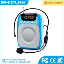 Mini portable speaker support TF card USB MP3 format,one-key radio function,multifunctional LED display