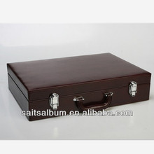 borgoña de cuero de la pu caso álbum para el álbum