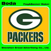 90x150cm polyester nfl green bay packers flag
