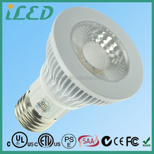 50W Halogen Replacement 38 Degree Narrow Spot 5W COB Recessed LED PAR20 Dimmable