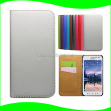 Smartphone Unlock Cover Card Holder Phone Case PU Leather Flip Shockproof Case For Samsung Galaxy S6 Active