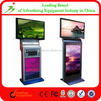 """Customized Floor Standing Indoor Double Screen/Two Side 55"""" Lcd Screen Replacement"""