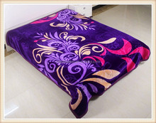 Plain Style Good Quality Nice Design polyester adult Acrylic blanket