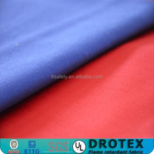 wrinkle free fabric 100%cotton sateen flame retardant and acid and alkali for workwear