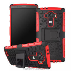 Heavy Duty Rugged Hybrid Robot Case For LG G4 With Kickstand, Wholesale