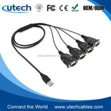 USB 4-Port Serial Adapter / USB 2.0 Quad Port Serial DB-9 RS-232 FTDI
