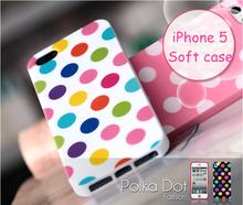 For iphone 5 case polka dots, Korea Fashion IMD Polka Dots mobile phone covers for iPhone 5 case