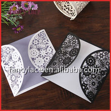 2015 Hot Sale Laser Cutting Invitation Cards, Eco-Friendly Paper Wedding Card for Event&Party Favors