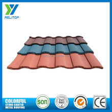 Aluminium zinc sand coated metal roofing tiles for home villa house