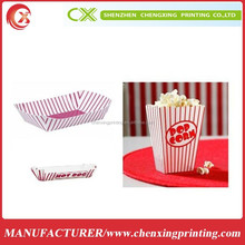 Paper Fast Food Packaging box Popcorn Boxes Hot Dogs & Nacho Food Snack Paper Trays