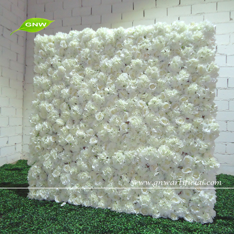 Gnw flw1507 1 artificial flower backdrop wall for wedding decoration flw1507001g junglespirit Images