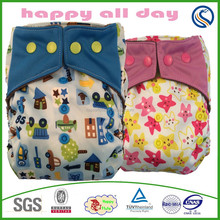 Happy Flute baby product,eco-friend and adjustable newborn diaper,super dry in frant newest print nappy ,sleepy baby diaper
