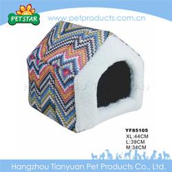 Warm cheap soft fabric purple dog kennel