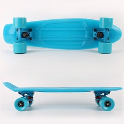 2015 factory Hot selling cheap noctilucent Professional light blue skateboard penny