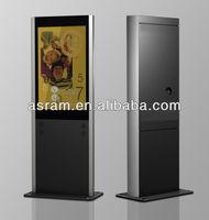 "ASRAM LED 17""-65"" Digital Floor Stand Advertising Display HD outdoor video wall stand alone advertising display"