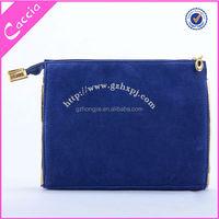 Promotional travel lady fashion cosmetic bag velvet women toiletry bag