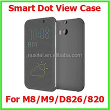 New Arrival Time Weather Call Display Smart Dot View Case For HTC M8 M9 D826 D820