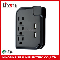 LITESUN LA 3SC ETL CETL 3 outlets Surge protected Adapter with 2 USB charging ports Wall Tap