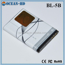 BL-5B rechargeable batteries for nokia 3220 5300 5500 6020 6120 6060 6070 6080 7360 N80 N90