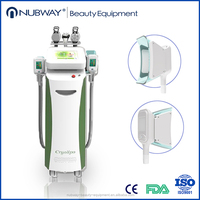 CE approved 5 handles 15 degree temperature blow zero, Nubway cryo criolipolisis/ cryolipolysis fat freeze slimming machine