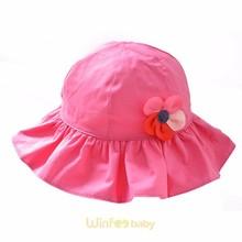 baby kids children sun hat flower safari boonie wide floppy brim bucket hat