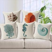 Ocean animal designs linen cushion cover wholesale