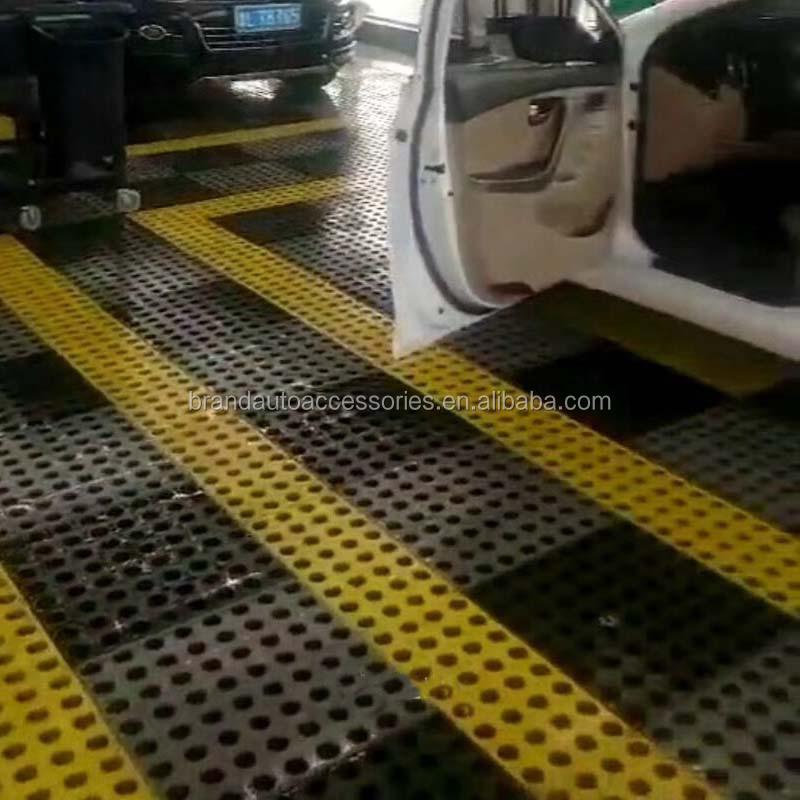 Interlocking industrial pvc vinyl floor tile garage mat pp for Garage cheminal seat feurs