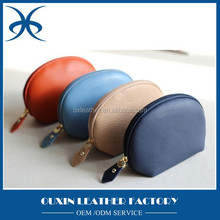 Fancy shell clutch female small bag coin purse , handmade synthetic leather coin zipper holder purse pocket