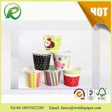 Summer hot use paper cup/3oz paper ice cram cup