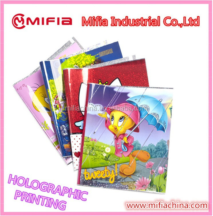 Vinyl Book Cover Material : Plastic holographic printing lantern book cover of
