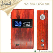 Wood box mod Unik god180 new coming electric cigarette vape god 180 vaporizer pen
