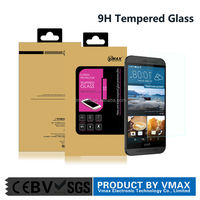 Factory price! anti- oil anti- broken 9H hardness high clear tempered glass screen protector for HTC ONE M9 plus cell phone oem