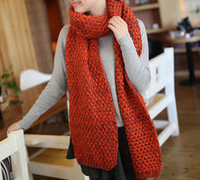 knitted fashion winter thick yarn scarves