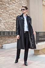 Winter Rabbit Fur Leather Coat For Men