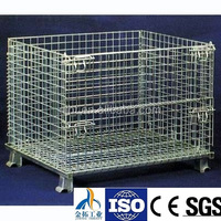 CE certificate industry foldable steel wire mesh storage bin with high quality