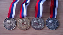 play basketball 3D russian souvenir medals, basketball club sport game medal with russian flag ribbon