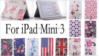 Luxury PU Leather Flip Wallet Stand Case Cover Protector For iPad mini3 mini 3