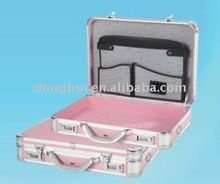 Lovely pink ABS surface brief case for Laptop