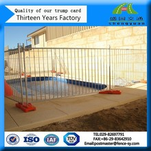 Galvanized steel fencing around swimming pools