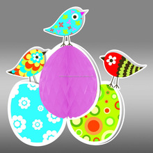 Solid Color Tissue Honeycomb Paper Baby Easter Garden Party Hanging Decoration
