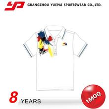 Newest Hot Selling Hot Quality Elastic White And Green Color Combination Polo T Shirts