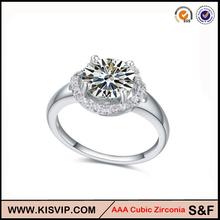 El oro blanco plateado calidad de Hight anillo de bodas
