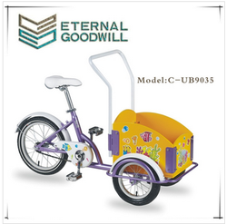 2015 hot sale Eurpoe 3 wheel cargo bike kids bike child bike children bike